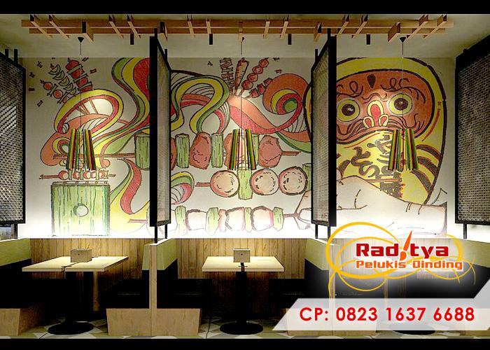 Jasa lukis dinding jasa lukis dinding for Mural untuk cafe